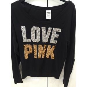 Victoria's Secret pink bling shirt - small